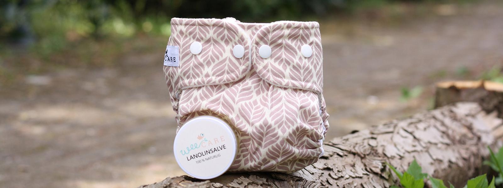 Lanolinsalve og moderne stofble fra WeeCare - Genanvendelige produkter