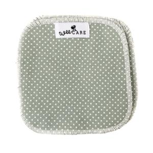 Vaskeklude-Dots-Verte-WeeCare