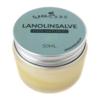 WeeCare Lanolinsalve 50 ml i glaskrukke, med metallåg og grøn etiket. 100 % naturlig.