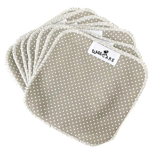 Genanvendelige-klude-af-stof-Dots-Grey